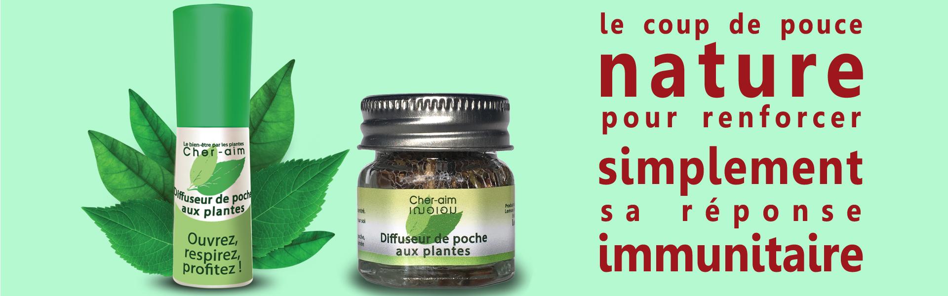 Le diffuseur de poche aux plantes : le coup de pouce nature pour renforcer simplement sa réponse immunitaire.