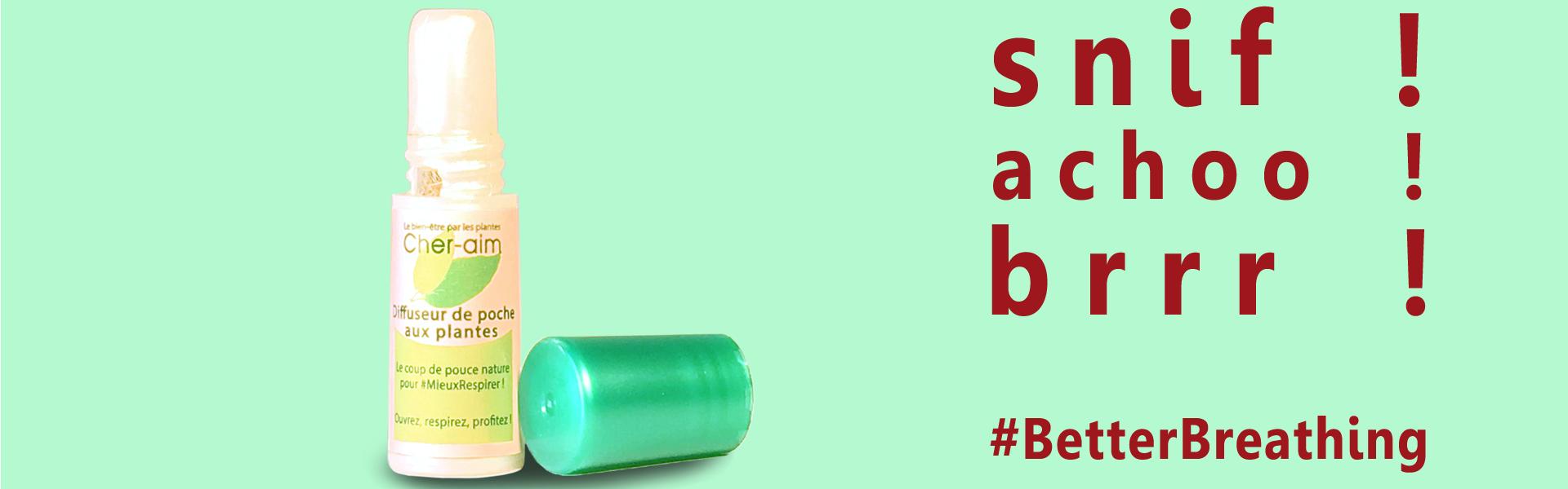 Snif ! Achoo ! Brrr ! The pocket herbal inhaler : the companion for better breathing.