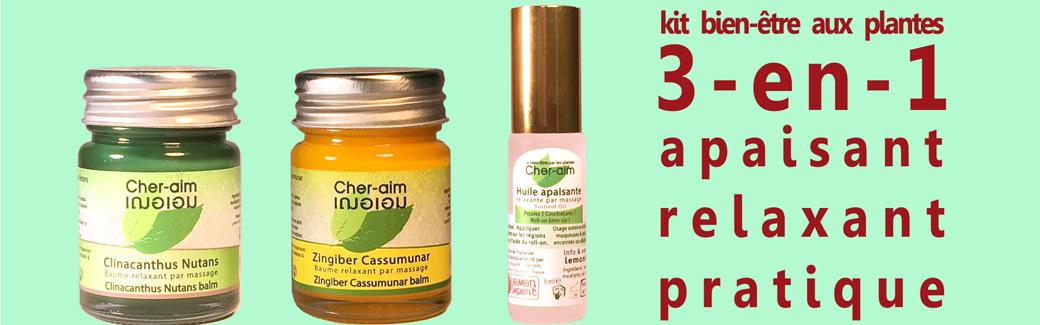 Le kit bien-être aux plantes 3-en-1 : 3 produits dans un kit indispensable. Simple, naturel & pratique pour défier les maux du quotidien.